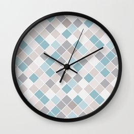 Coastal Color Block Wall Clock