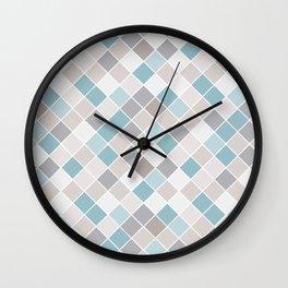 Coastal Color Block Wall Clock