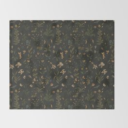 Old World Florals Throw Blanket