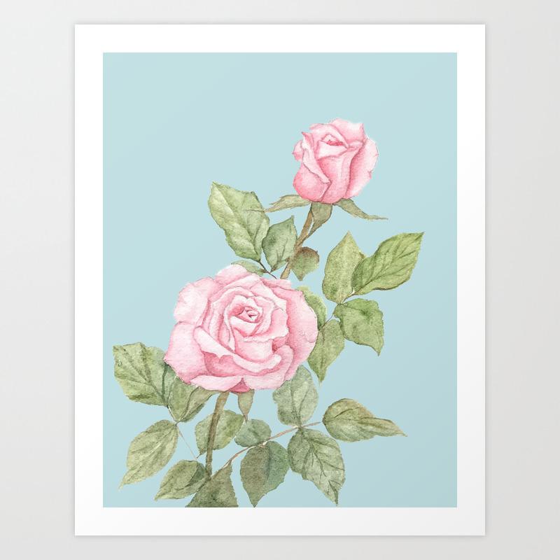 Garden Roses In Bloom Art Print By Katlynsnest Society6