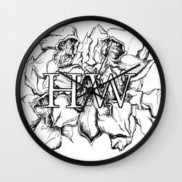 """HW"" Drawing Wall Clock"