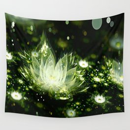 3D Lotus Flower Wall Tapestry