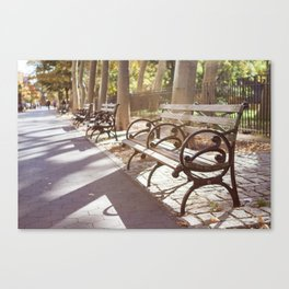 New York City Park Bench Moments Canvas Print
