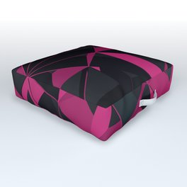 3D Futuristic GEO III Outdoor Floor Cushion