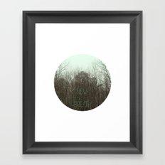 NOW BREATH (WINTER) Framed Art Print