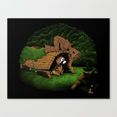 The Tree and the Raccoon Canvas Print