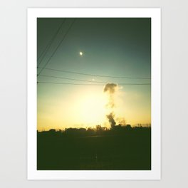 Smoke stacks Art Print
