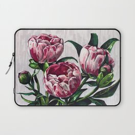 Peonies in a vase marers art Laptop Sleeve