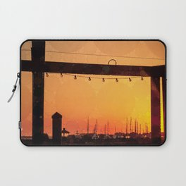 Yacht Basin Marina View Sunset Southport NC Laptop Sleeve
