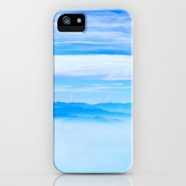 Heavenly Mountains In A Sea Of Clouds iPhone Case