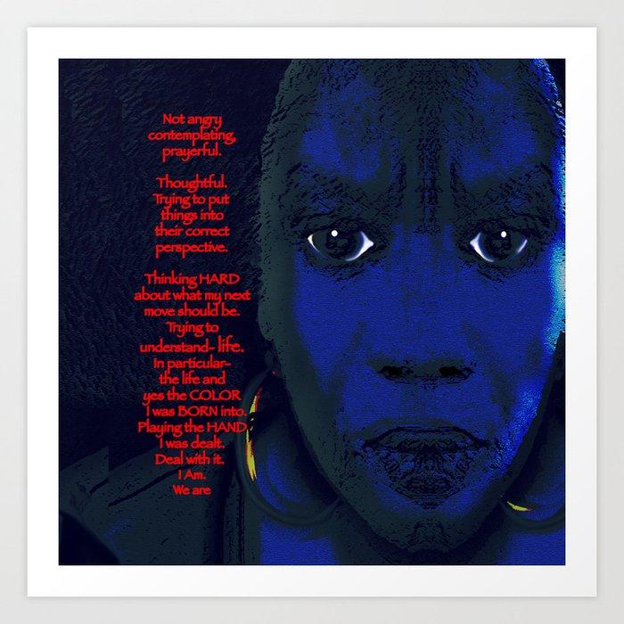 Angry Black Woman Art Print