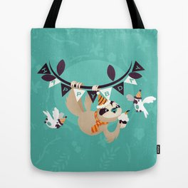 Sloth Birthday Tote Bag
