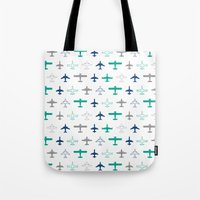 planes Tote Bags featuring Planes by chantae