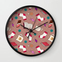 A Cozy Winter's Night Wall Clock