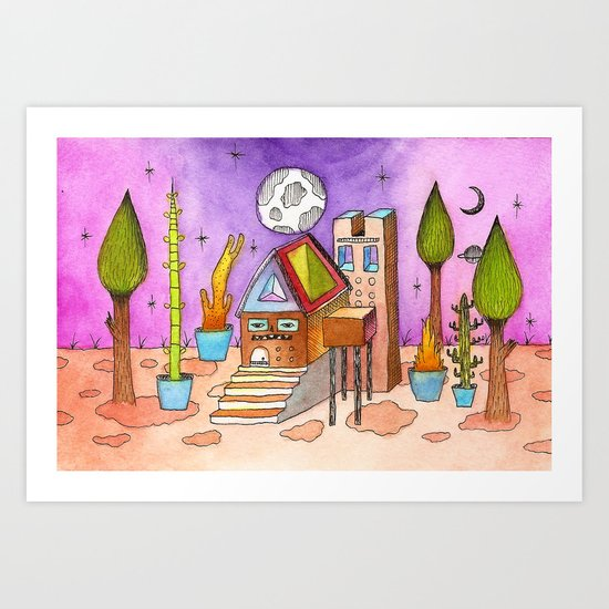 Dream House 1 Art Print