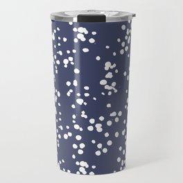 white dots on purple Travel Mug