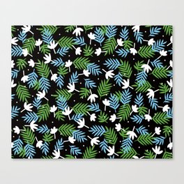 black, black Canvas Print