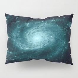 Spiral gALAxy Teal Pillow Sham