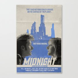 "Doctor Who ""Midnight"" Retro Vintage Movie Poster Canvas Print"