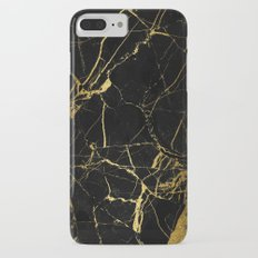 Black and Gold Marble iPhone 7 Plus Slim Case