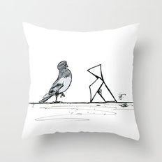 A Few Parisians: Beaubourg by David Cessac Throw Pillow