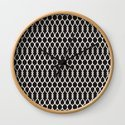 Black and White Shapes Geometric Pattern by theprintstudio