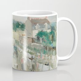 Hanging the Laundry out to Dry by Berthe Morisot Coffee Mug