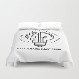Make America Smart Again Science Brain Duvet Cover