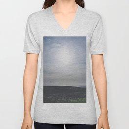 Blue skies at sundown / island summer view / Ireland wanderlust fine art print Unisex V-Neck