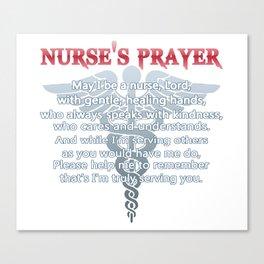 NURSE'S PRAYER Canvas Print