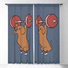 The snatch weightlifting Dachshund Blackout Curtain