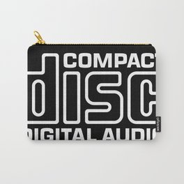 Compact Disk Digital Audio Logo - White Carry-All Pouch
