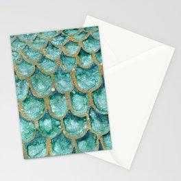Emerald Mermaid Skin Stationery Cards