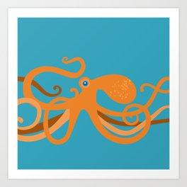 Octopus Swirl Art Print