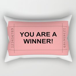 Red Ticket Rectangular Pillow