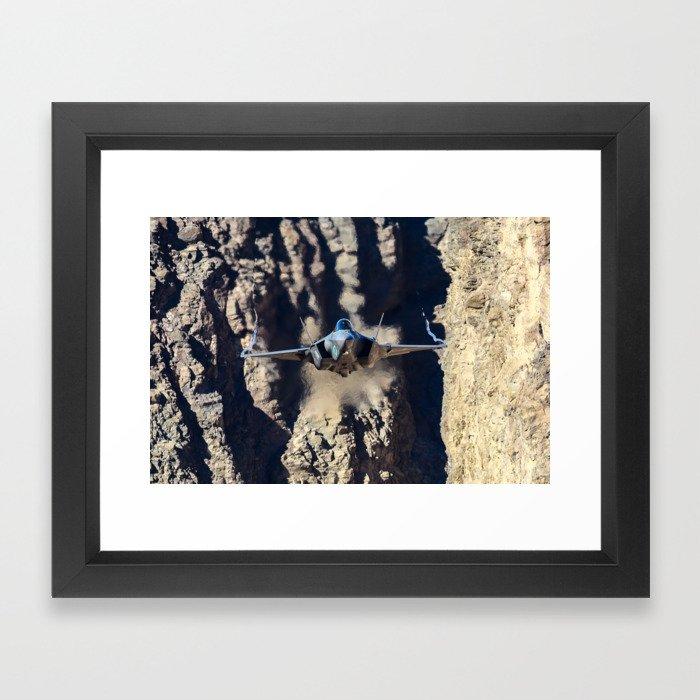 F-35 in Death Valley Framed Art Print