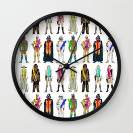 Naughty Lightsabers Wall Clock