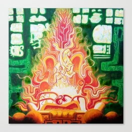 Spirit in Flames Canvas Print
