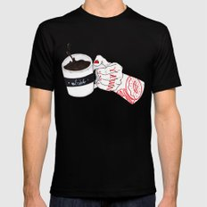 Death b4 Decaf Mens Fitted Tee LARGE Black