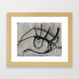 Eye in stitch Framed Art Print