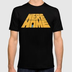 Home Black MEDIUM Mens Fitted Tee
