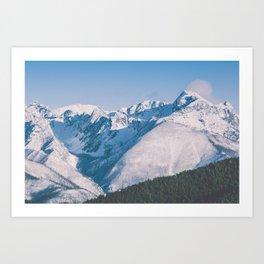 Snow Capped Peaks Art Print