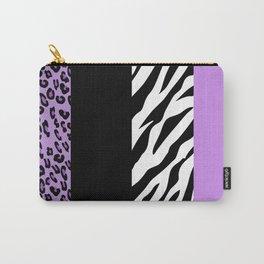 Animal Print, Zebra Stripes, Leopard Spots - Purple Carry-All Pouch