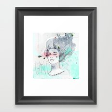 Under Water Love Framed Art Print