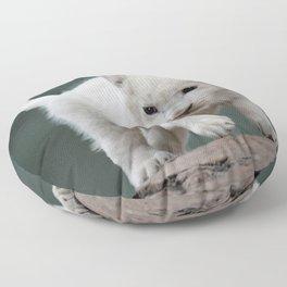White lion cub Floor Pillow