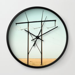 Don Quixote of La Mancha against the windmills Wall Clock