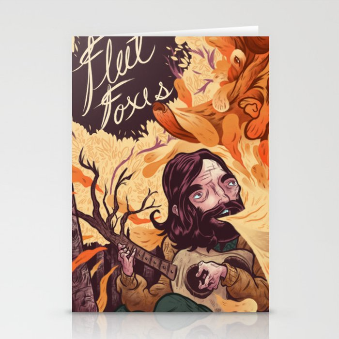 Fleet Foxes Poster Stationery Cards