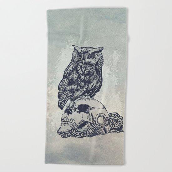 Key of wisdom Beach Towel