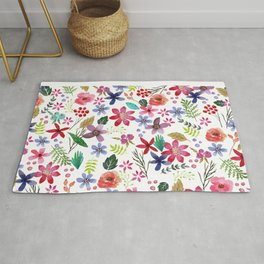 """""""The earth laughs in flowers"""" Rug"""