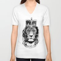 the lion king V-neck T-shirts featuring Lion King by dalsdesign